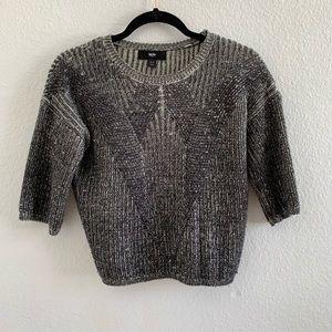 Mossimo Navy Short Sleeve Sweater